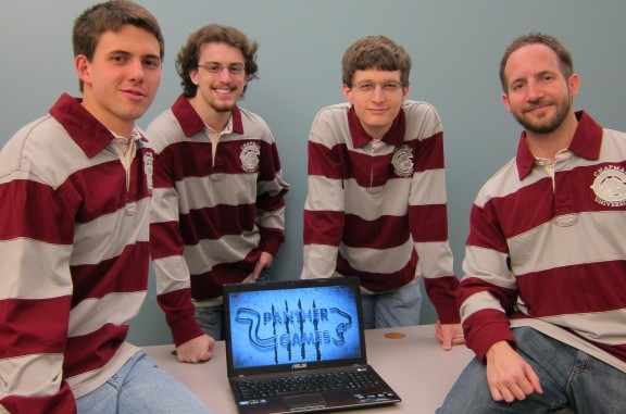 Panther Games team members (l-r) Andrew Minarik, Matt Loesby, Matthew Shaffer and Chris Boyd, created an award-winning game for Imagine Cup.