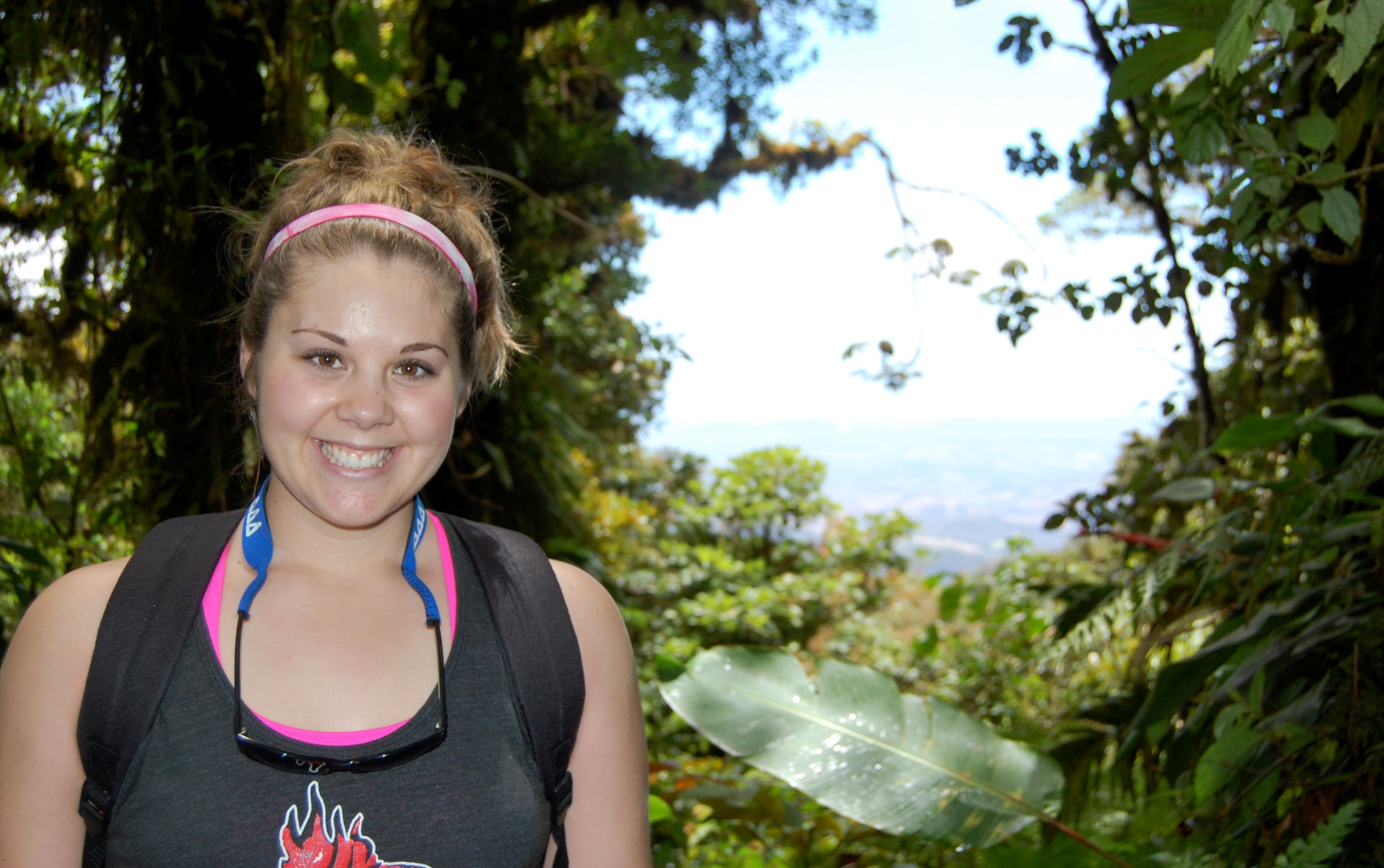 Meghan Prout '13 toured Costa Rica during recent Evergreen leadership trip.