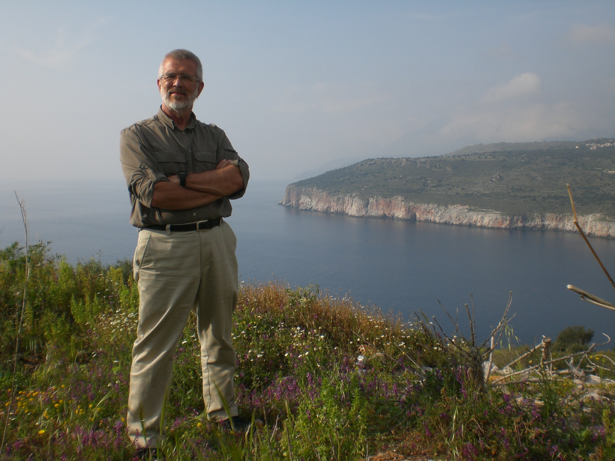 The late professor Marv Meyer during a 2011 trip to Greece. A memorial is planned September 23.