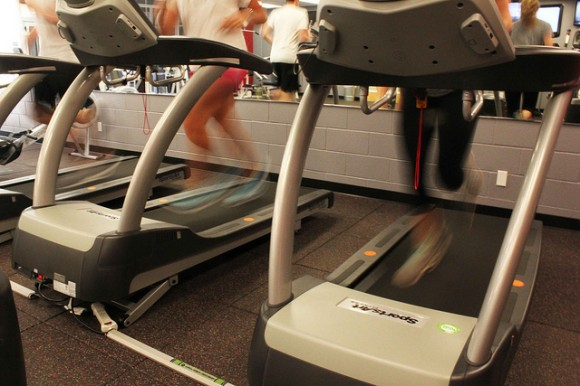 Thanks to new green gym equipment in the Henley Hall Fitness Center, kinetic energy from workouts will be recaptured and fed back into the grid.