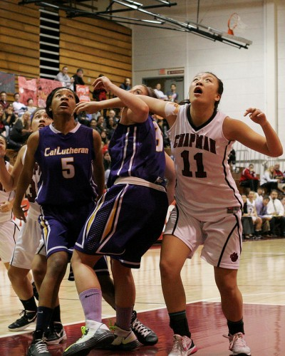 Chapman University freshman Sandra Gao (No. 11) led Panther women to a late comeback in Saturday's game.