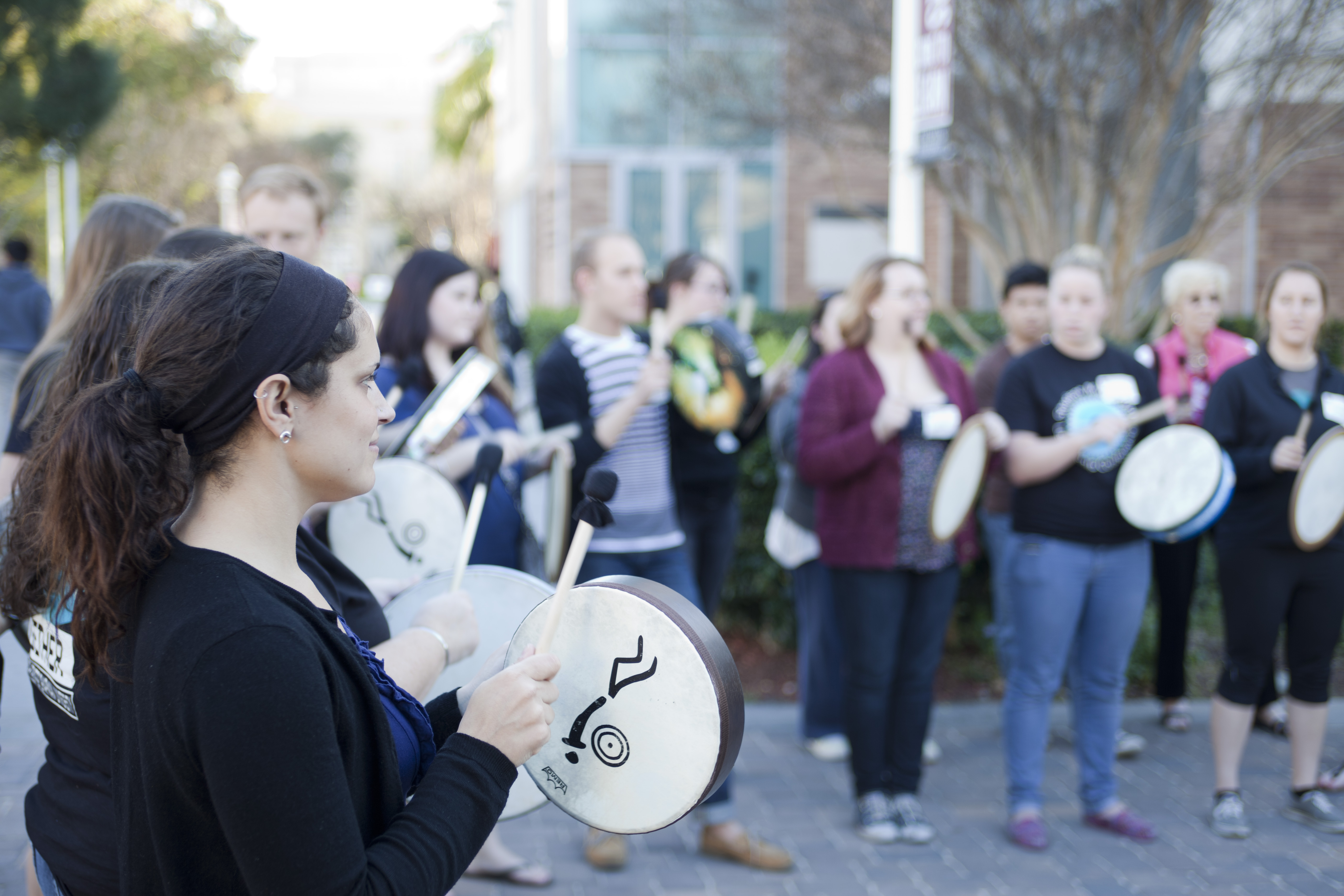 Chapman University students and college students from throughout Southern California convened on campus this month for a multi-faith conference that included a noisy and happy drum circle as part of its closing ceremony.