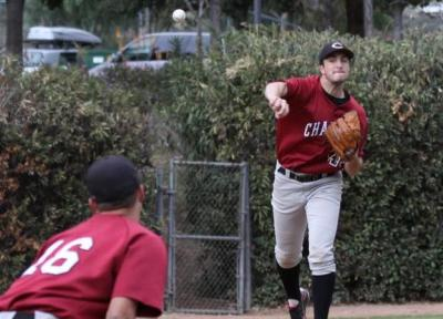 Junior Justin Hanks helped lead Chapman to a 9-0 win over Whittier College in weekend game.