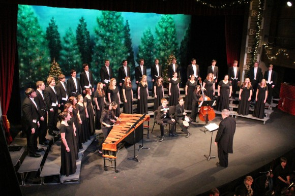 The Wassail concert features multiple student choirs and the Chapman Orchestra.