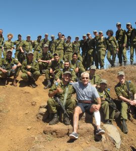 Henley with Israeli soldiers