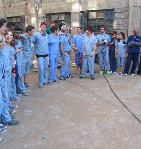 nurses all lined up