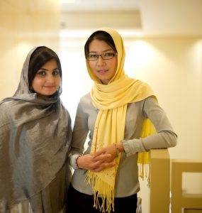 Shamsi and Munira at Chapman College on October 12, 2012