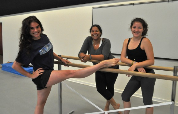Dance students (from left) xxxx are among six student researchers presenting their dance science studies at an international conference this month.