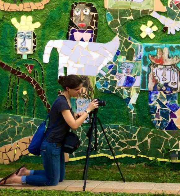 """Chapman student Mor Albalak '15 works on her documentary film profiling three Cuban artists. The people she met """"are so full of light,"""" she says."""