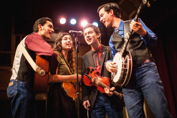 group of musicians on stage