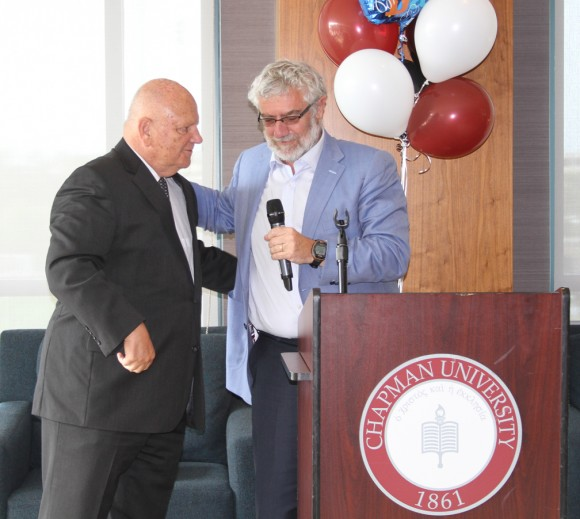 Dave Currey and Chancellor Daniele Struppa.