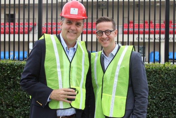 Special guests on the tour, from Los Angeles Opera: John Nuckols, EVP, and Christopher Koelsch, president and CEO.