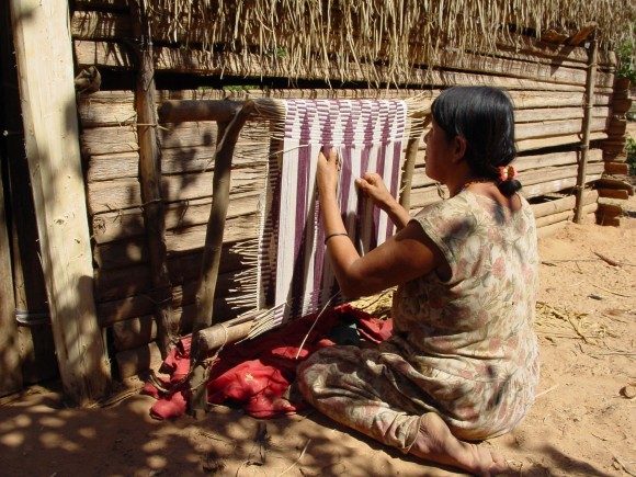Tsimane craftswoman