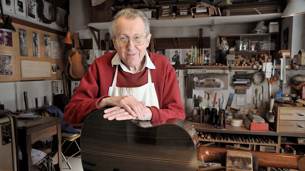 Daniel Friederich, French guitar-maker extraordinaire.