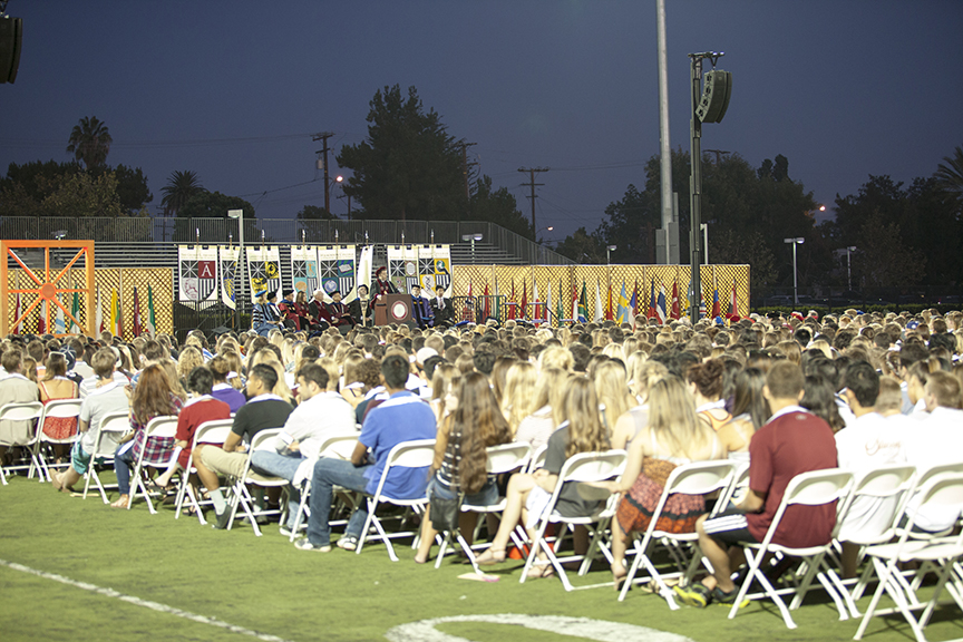 Chapman University Opening Convocation 2014.
