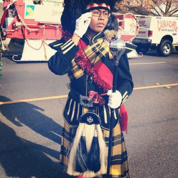 man in band costume