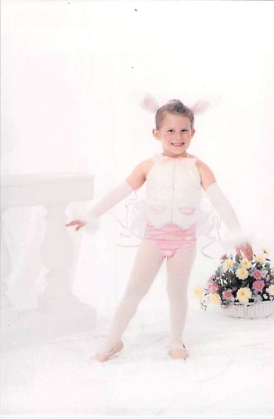 child in easter outfit