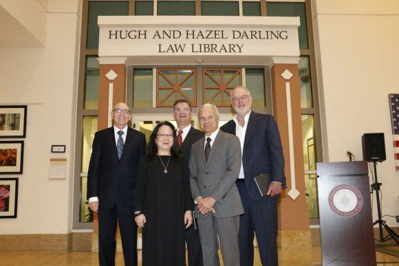Hugh and Hazel Darling Law Library dedication