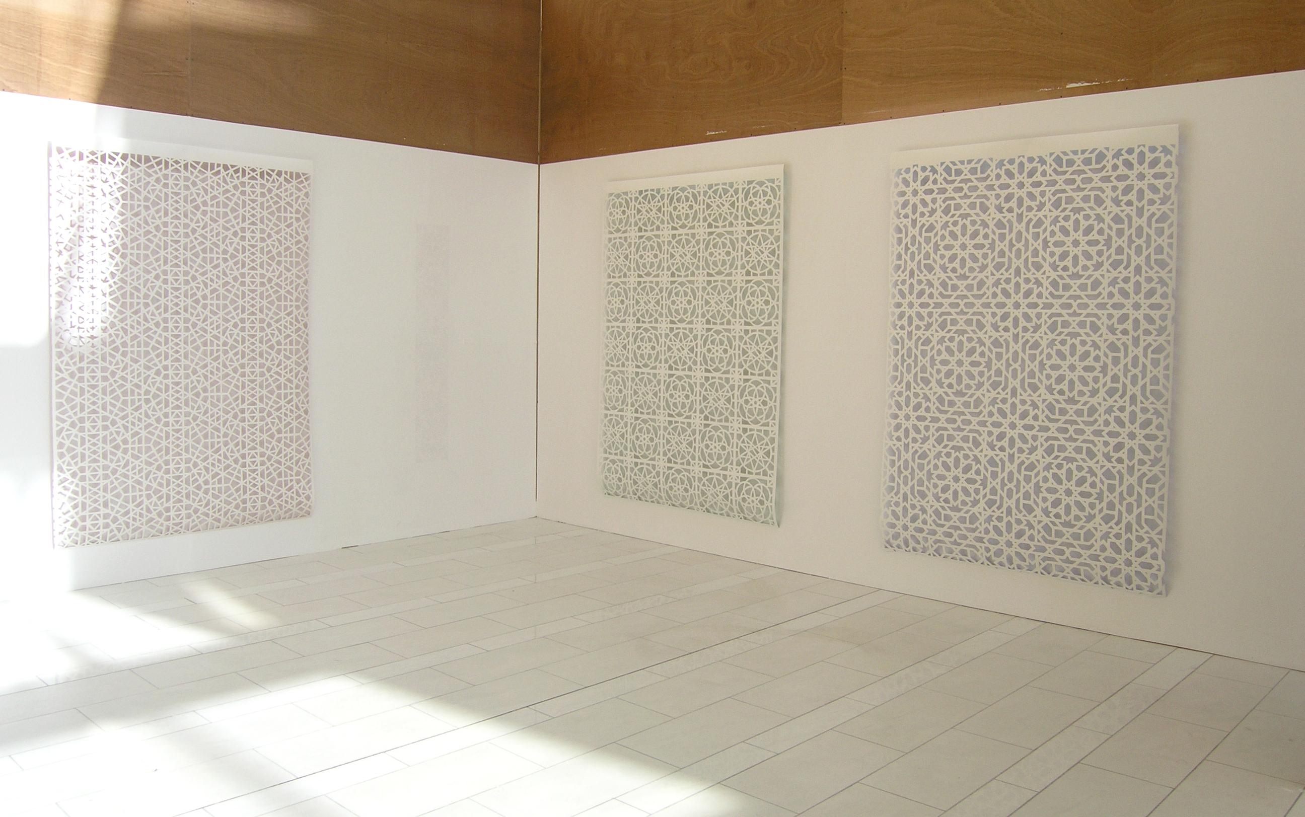 Geometic Aljamia: works of papercut art