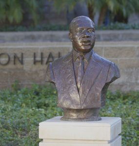 bust of martin luther king jr on chapman campus