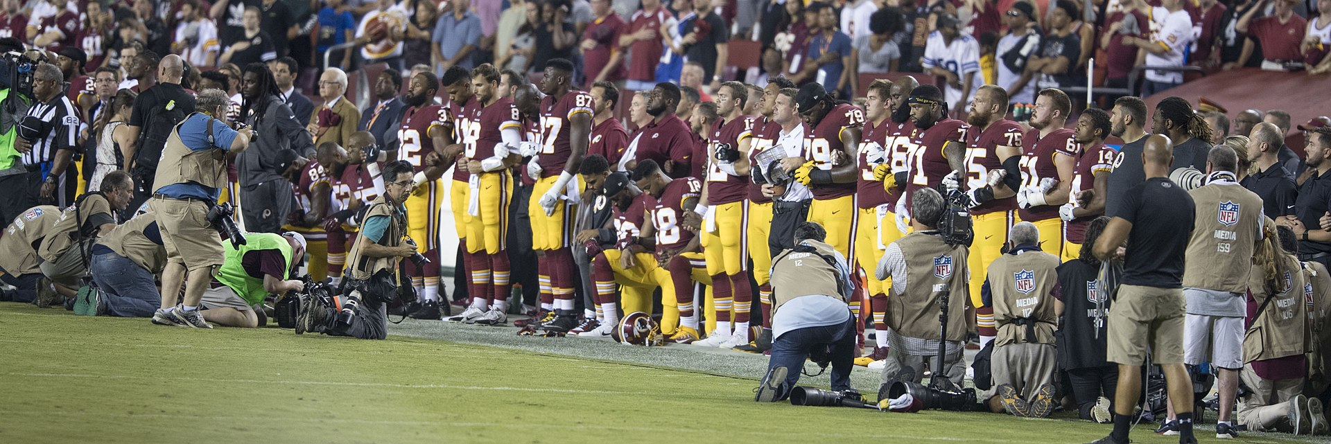 NFL players kneel in protest