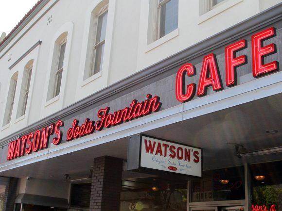 Facade of Watson's Soda Fountain Cafe