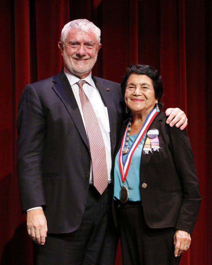 Daniele Struppa and Dolores Huert