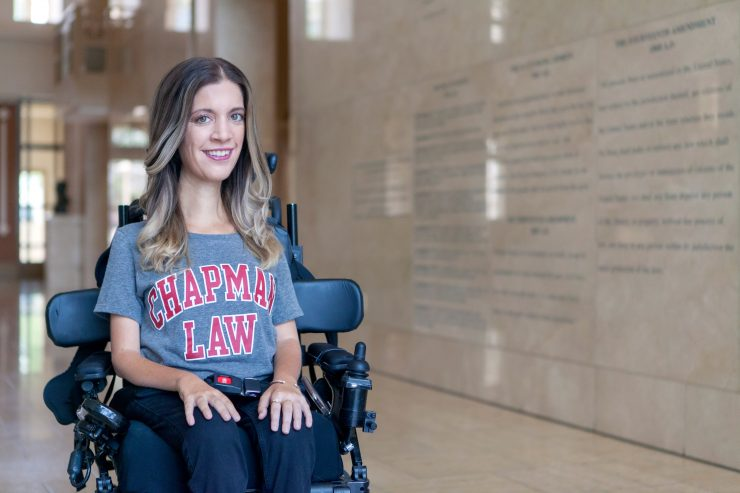 Alexa Dectis (JD '19) at Fowler School of Law's Kennedy Hall.