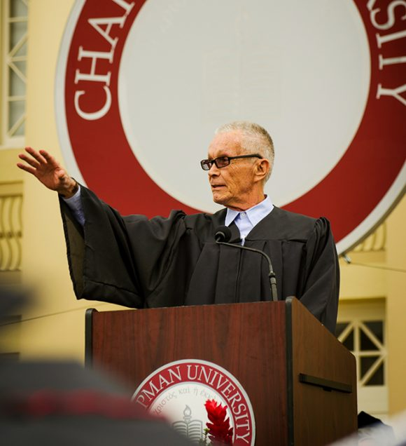 Larry Billman speaks at the COPA commencement ceremony in 2012.