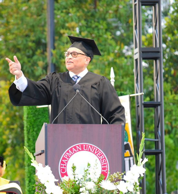 Comedian Larry Wilmore speaks to Chapman University's class of 2018 at Closing Convocation.