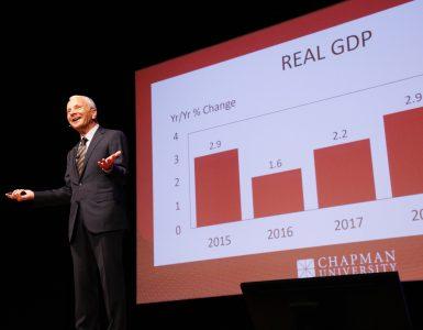 Professor Jim Doti presents forecast update