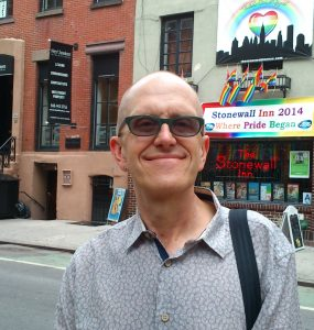 Professor Ian Barnard in front of the Stonewall Inn