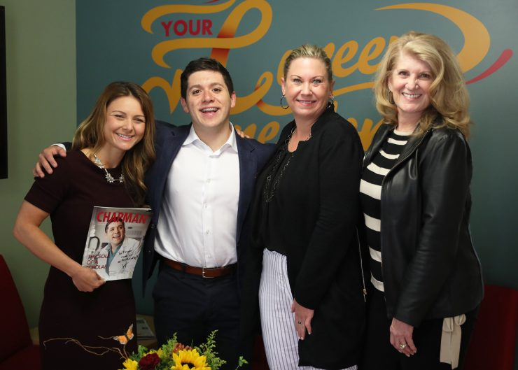 Vidal Arroyo poses with Career Center staff.