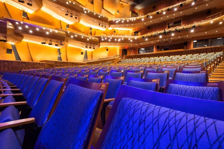rows of available seats at Musco Center for the Arts