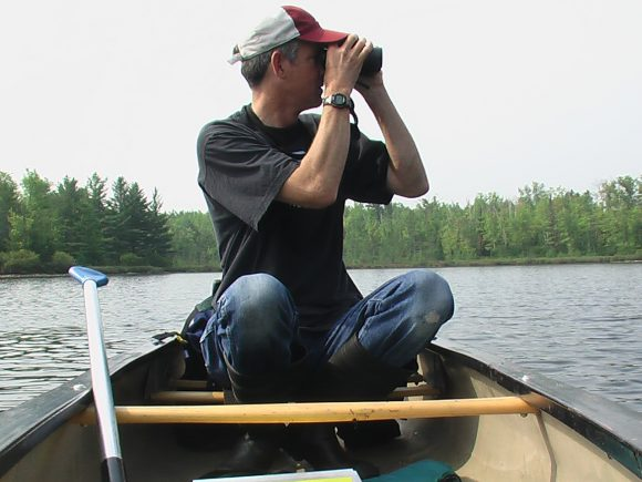 Walter Piper looks for loons.