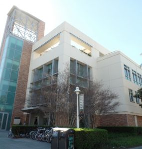 Beckman Hall, home to Argyros School of Business and Economics.