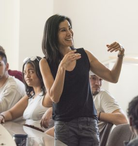 Lisa Ling in a Chapman University Classroom