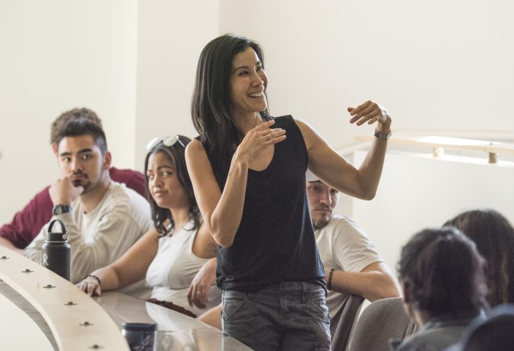 Lisa Ling in a Chapman University Classroom