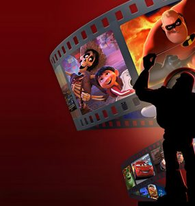 Collage of Pixar characters