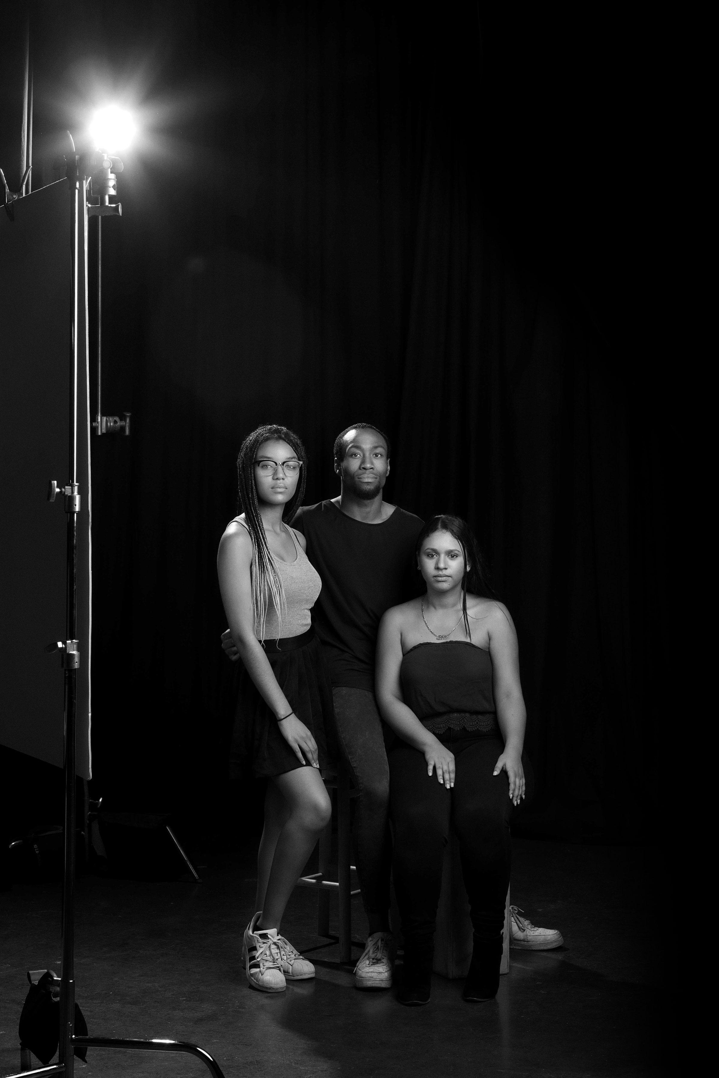 students arianna, nadine, and jae
