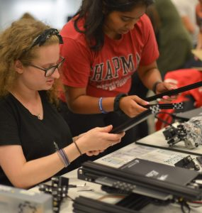 Chapman students building 3D printers.