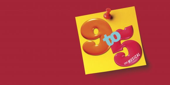 red background with 9 to 5 logo