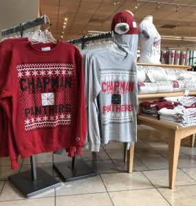 holiday shirts display chapman university