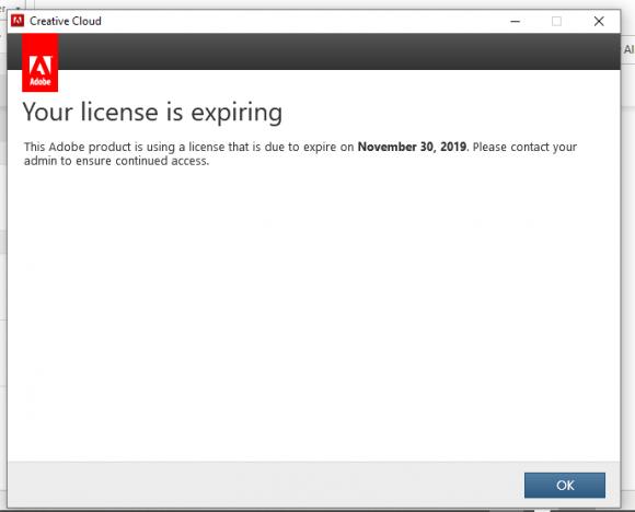 license notification