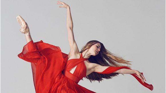 ballet dancer in red dress