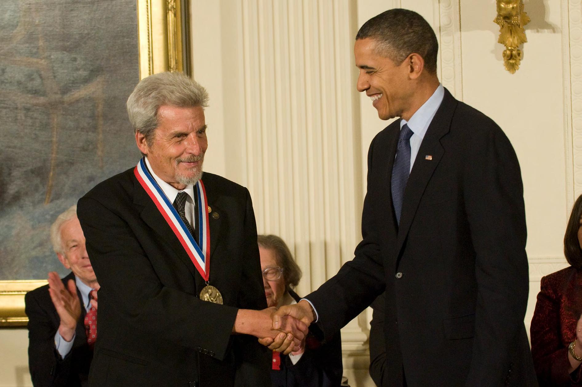 aharonov awarded b president barack obama