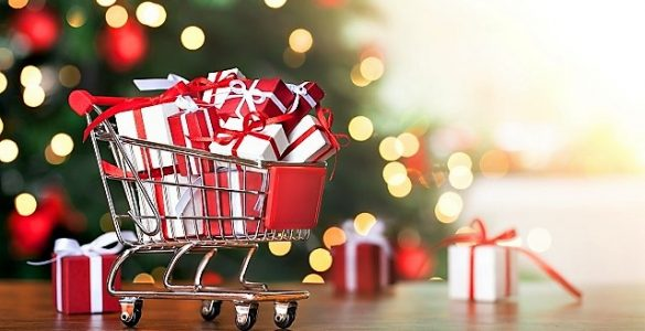 cart full of gifts.