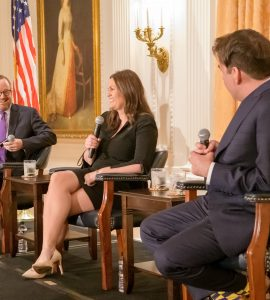 White House Press Secretaries Gibbs and Huckabee Sanders with Brian Calle