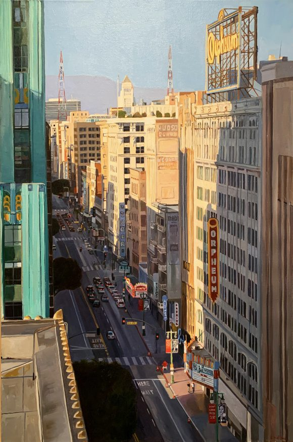 painting of Broadway, LA