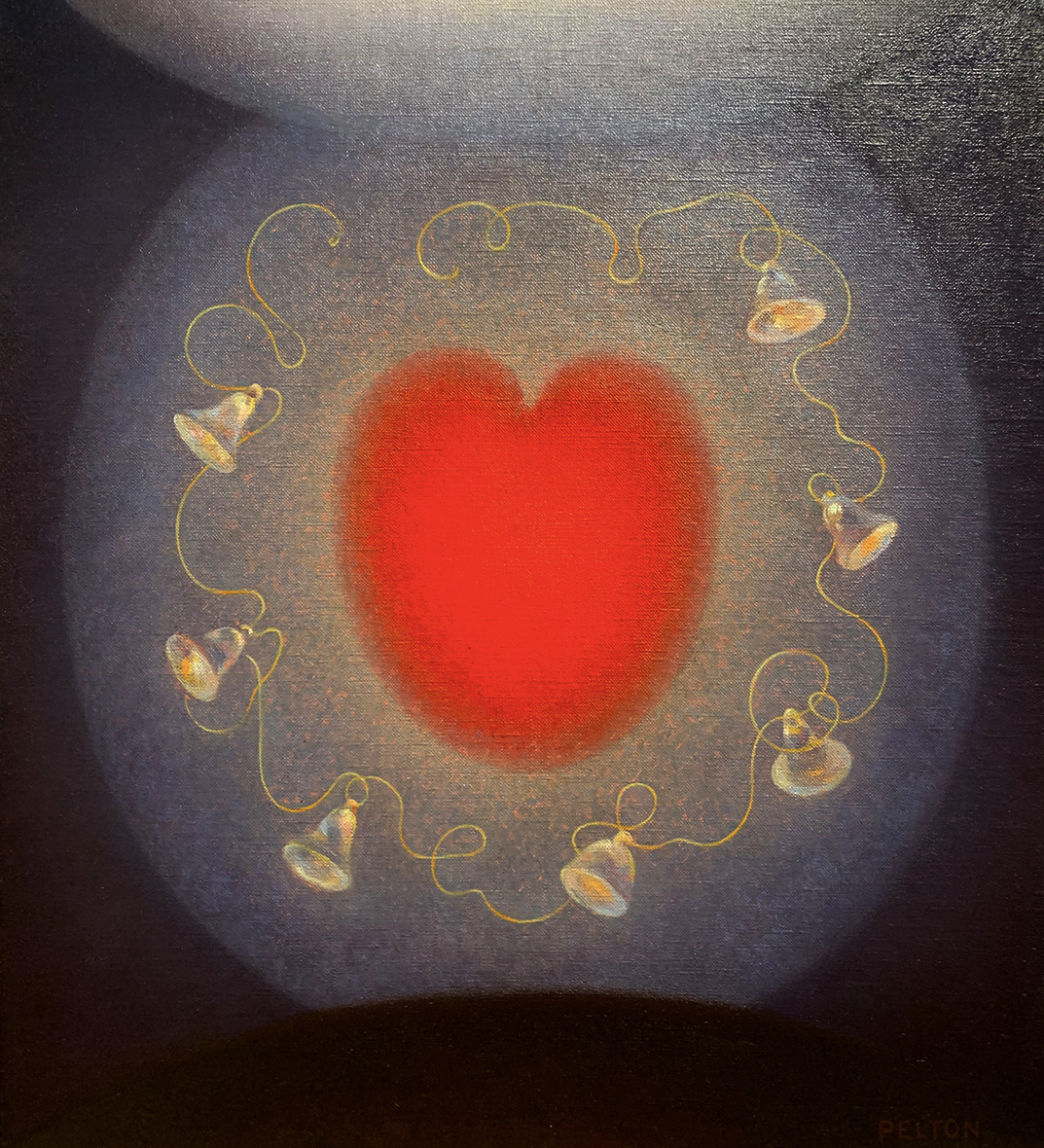 Agnes Pelton Painting of Heart in the Hilbert Museum